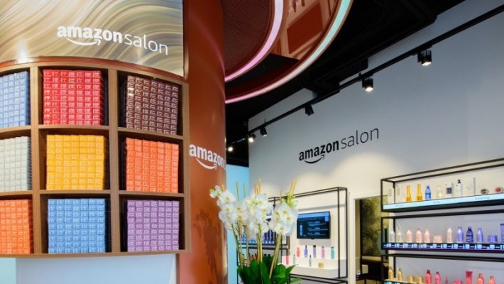 Amazon is opening its first - ever hi-tech salon in London