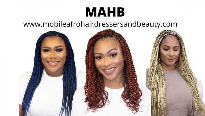 Home Service Hair Braiding, Box braiding, braiding, Twist, Cornrows, Mobile Afro Hairdressers UK