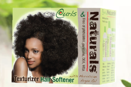Curls & Naturals Texturizer Hair Softener Morocco Argan Oil and Shea Butter